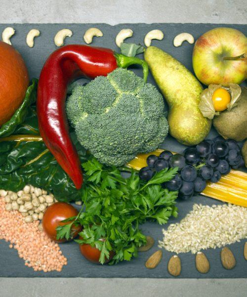 Vollwertige pflanzliche Lebensmittel enthalten die lebenswichtigen Ballaststoffe