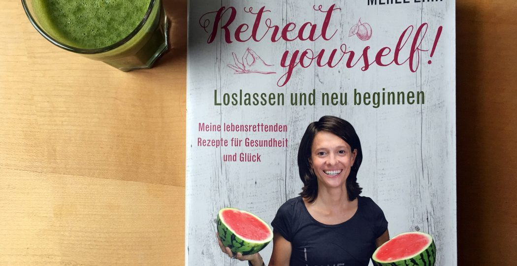 "Der Buchtitel ""Retreat yourself"" mit Autorin Merle Zirk auf dem Cover"
